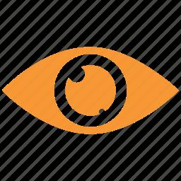 eye, human eye, search, view icon