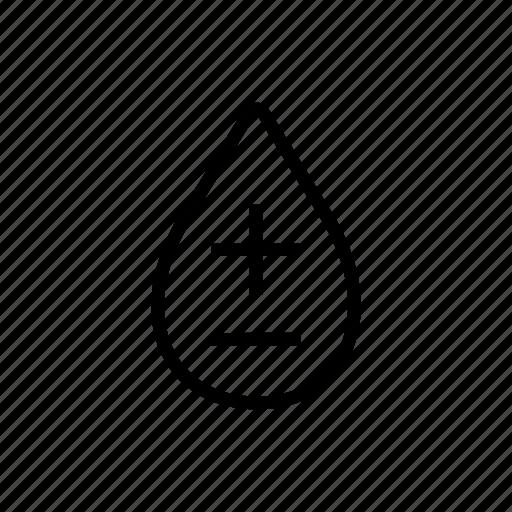 blood, donation, health, negative, positive icon