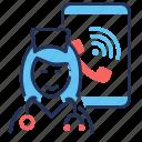 doctor, online, call, smartphone
