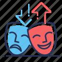 comedy, drama, masks, mood icon