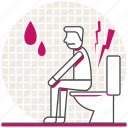 flush toilet, health, hemorrhoids, people, problems, sick, toilet icon