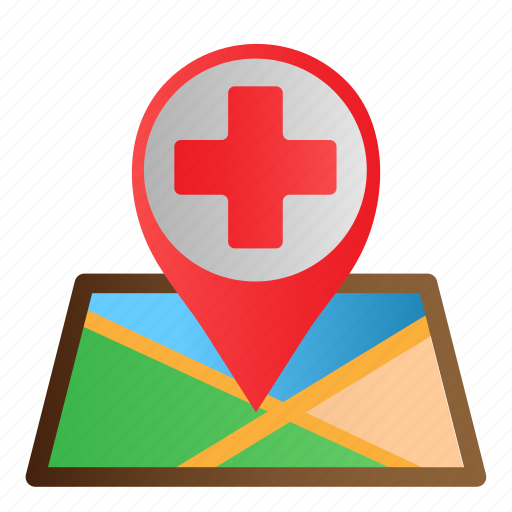Healthcare, location, map, medical, pin icon - Download on Iconfinder