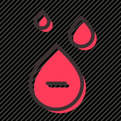 blood, drop, rhesus, transfusion icon