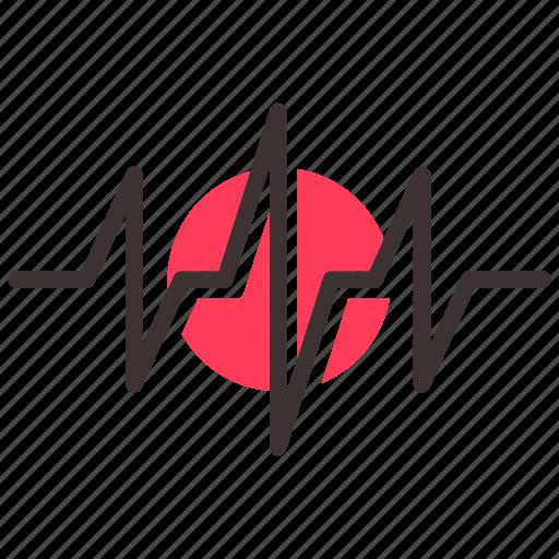 cardiogram, medicine, palpitation icon