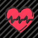 cardiogram, heart, palpitation icon