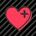 health, heart, palpitation icon