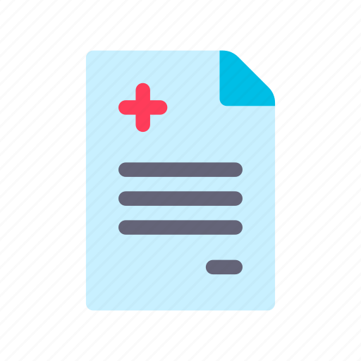 diagnosis, medical, record icon