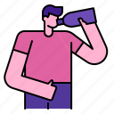 hydration, refreshing, water, bottle, drinking, healthylife, drink icon