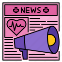 communication, health, medical, message, news, report icon