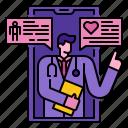communication, doctor, medical, mobile, online, support