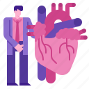 care, heart, hospital, medical, medicine, screening icon