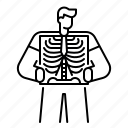 film, medical, ray, skeleton, x, xray icon