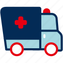 ambulance, emergency, healthcare, hospital, patient icon
