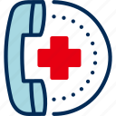 call, emergency, helpline, hospital, receiver icon