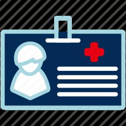 card, id, medical, person, profile, user icon