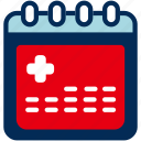 appointment, calendar, event, healthcare, medical, schedule icon