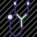 doctor tool, estetoscopio, medical equipment, stethoscope icon