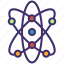 astronomy, atom, molecule, planetary, planetary system, science symbol icon