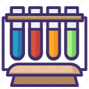 chemical flask, chemical testing, experiment, lab apparatus, lab tool, laboratory equipment, vials icon