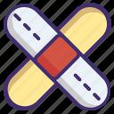 band aid, injury band, medical bandage, medical plaster, plaster band icon