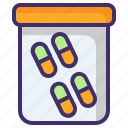 capsules, medication, medicine, pharmaceutical, pills strip, remedy icon