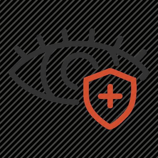 eye, health, healthcare, medical, protection icon