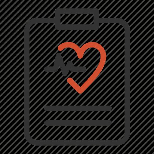 healthcare, heartbeat, hearth, medical, report icon