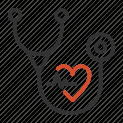 examination, healthcare, hearthbeat, medical, stethoscope icon