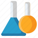 chemical flask, chemical testing, lab glassware, research, sample tube, test tubes icon