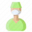 doctor, health professional, male surgeon, medical doctor, medical specialist, physician icon