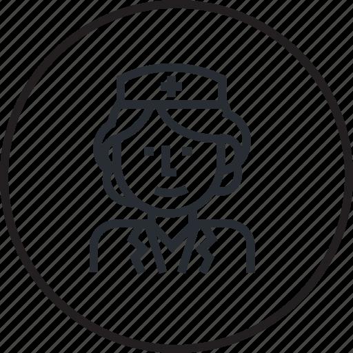 avatar, doctor, healthcare, hospital, line, medicine, nurse icon