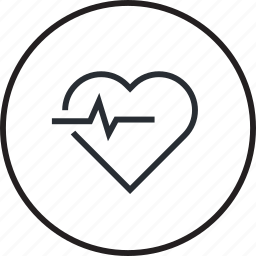cardiologist, healthcare, heart, hospital, line, medicine icon