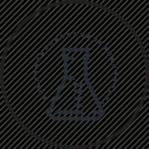 analysis, biochemical, healthcare, hospital, laboratory, line, medicine icon