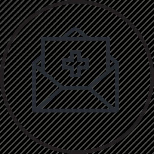 healthcare, line, medical, medicine, news icon