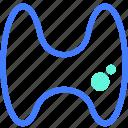 body part, healthcare, medical, organ, thyroid icon