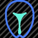 body part, healthcare, medical, organ, uterus icon