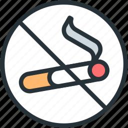 healthcare, no, smoking icon