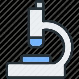 healthcare, microscope icon