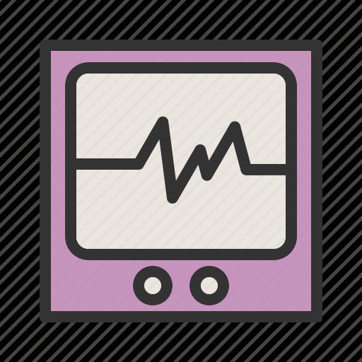 cardiogram, healthcare, heart, heartbeat, medical, monitor, screen icon