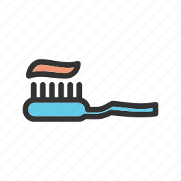 brush, health, healthy, paste, tooth, toothbrush, toothpaste icon