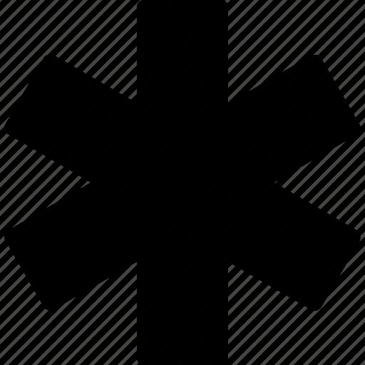 asterisk, clinic, drug, health, healthcare, medical icon