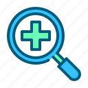 doctor, find, healthcare, hospital, medical, medicine, search icon