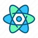 atom, healthcare, hospital, laboratory, medical, research, science icon