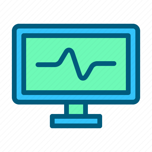computer, health, hospital, medical, monitor, screen icon