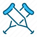 crutch, equipment, healthcare, hospital, medical, tools icon