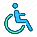 emergency, health, hospital, medical, medicine, patient, wheelchair icon