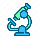 healthcare, hospital, laboratory, medical, microscope, pharmacy, science icon