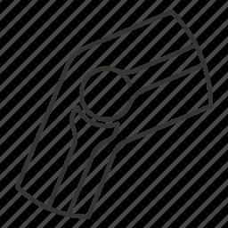 arrows, bone, bones, joint, knee icon
