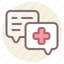 chat, consultation, healthcare, medical icon