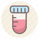 blood, medical, test, tube icon